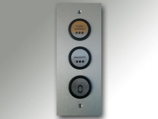 2 - Pulsantiera di piano per ascensore